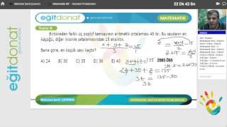 YGS Matematik Dersi sayı ve kesir problemleri Soru Çözümü İzle Part 1