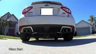 08+ Subaru Impreza WRX STI GReddy Supreme SP Catback vs Stock