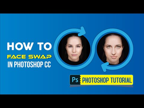 How To Face Swap In Photoshop CC |  Auto-Blend Layers Tutorial | Short Technique