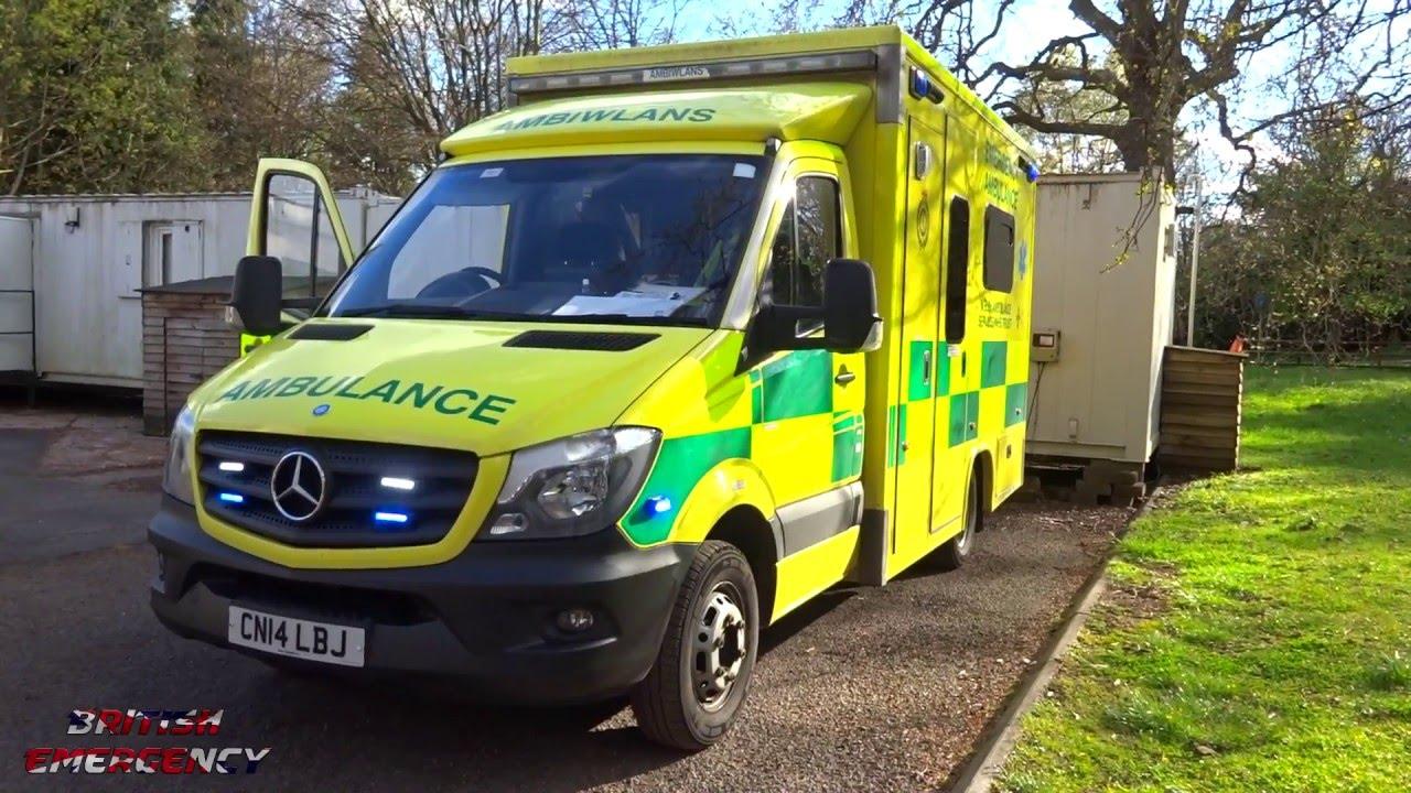 Welsh ambulance service mercedes sprinter blue light for Mercedes benz emergency service