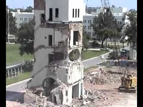 Building Gets Demolished By Crane Wrecking Ball Then Falls on Crane