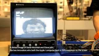 [Nexon Computer Museum] Original Apple1 Working Video (Apple I 'Hello World')
