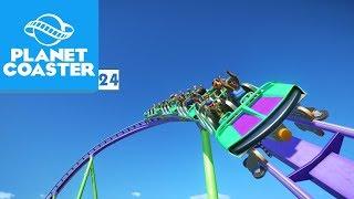 A NOVA MONTANHA-RUSSA É MUITO RÁPIDA! | Planet Coaster 24