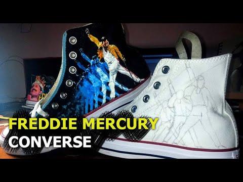 Freddie Mercury Custom Converse. - YouTube