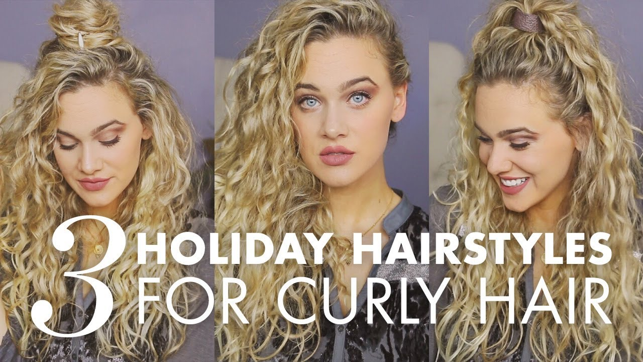 Curly Hairstyles: 3 Quick & Easy Looks for the Holidays