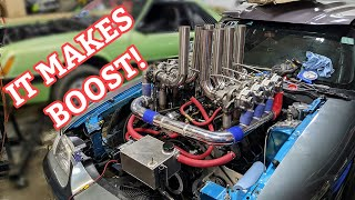 EIGHT Turbo V8 Mustang Makes Boost! - PT 8