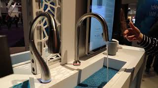 "KBIS 2019:  Delta First Wave Innovation Lab - Glass Rinser and Touch Only ""Handleless"" Faucet"