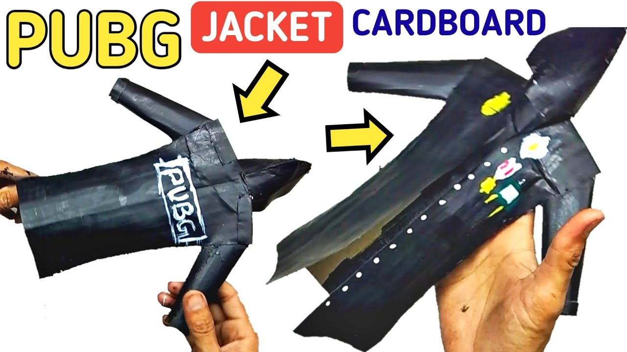 How To Make Pubg Game Jacket With Cardboard Diy Pubg