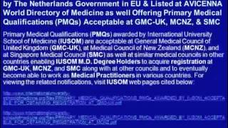 Apply for M.D. Degree Admissions for September 2012 Semester at IUSOM