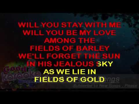 Fields of Gold -  Sting ( Karaoke Lyrics )
