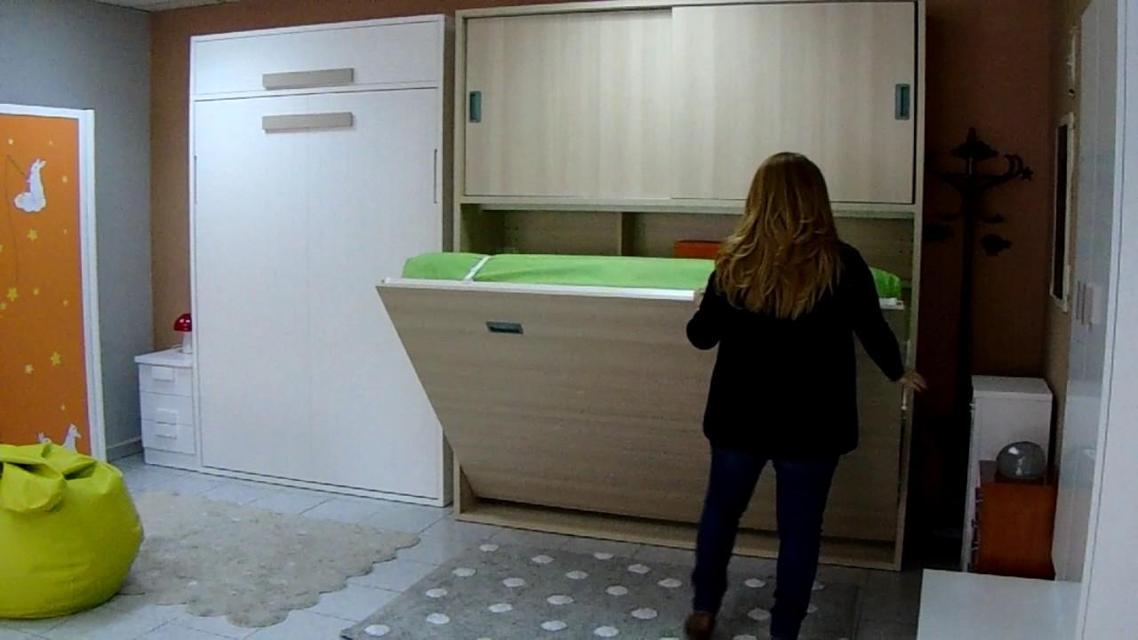 Cama abatible horizontal matrimonio youtube - Mecanismo para camas abatibles ...