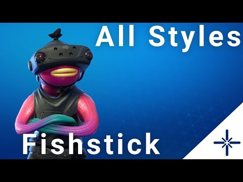 4k Fortnite Fishstick Outfit All Styles Ingame Menu Preview Youtube