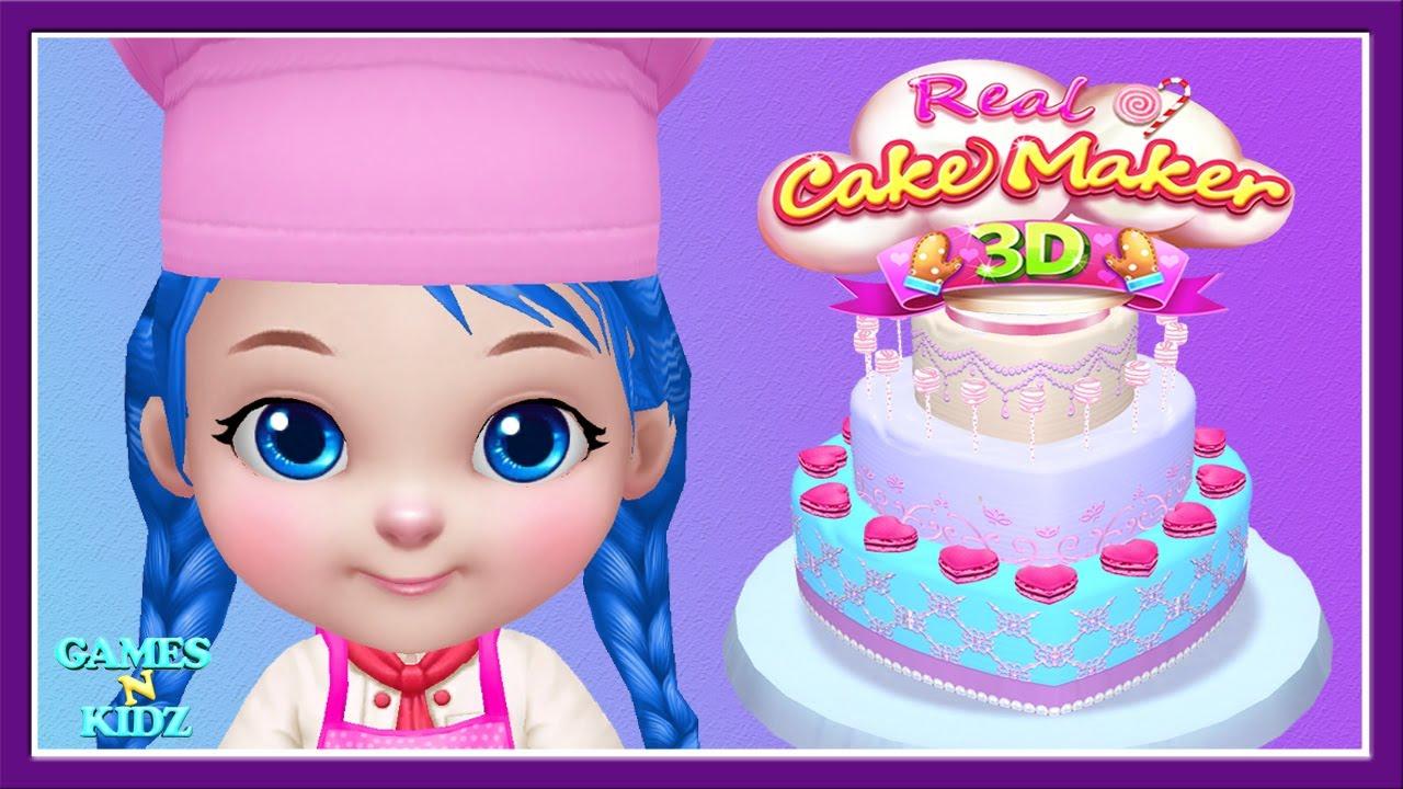 Fun Kids Cooking Baby Boss Princess Cake Dress Up Real 3d Cake