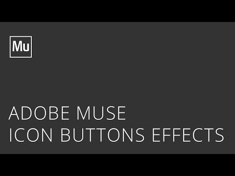 Adobe Muse Icon Buttons Effects Widget