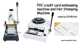 ZONESUN  PVC credit card embossing machine and Hot Stamping Machine For PVC Card