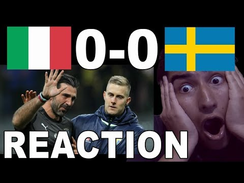 World Cup 2018 Play-Off: Italy 0 - 0 Sweden! Italy OUT OF THE WORLD CUP 2018!! REACTION!