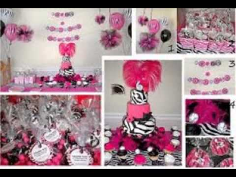 Diy Zebra Print Baby Shower Decorating Ideas Youtube