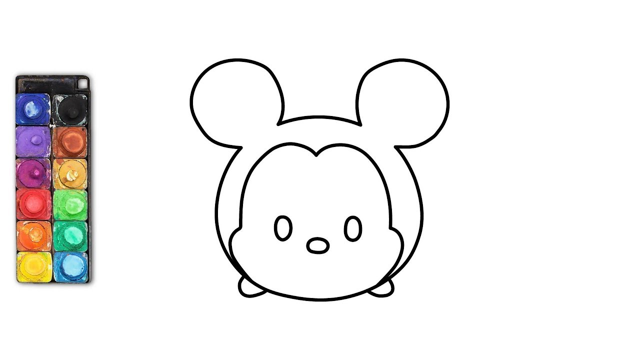 Disney Tsum Tsum Para Colorear Mike: How To Draw Mickey Mouse