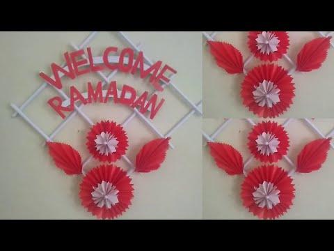 welcome-ramadan-wall-hanging-||-easy-paper-craft-||-ramadan-diy-home-decor-2020-||-ramadan-mubarak