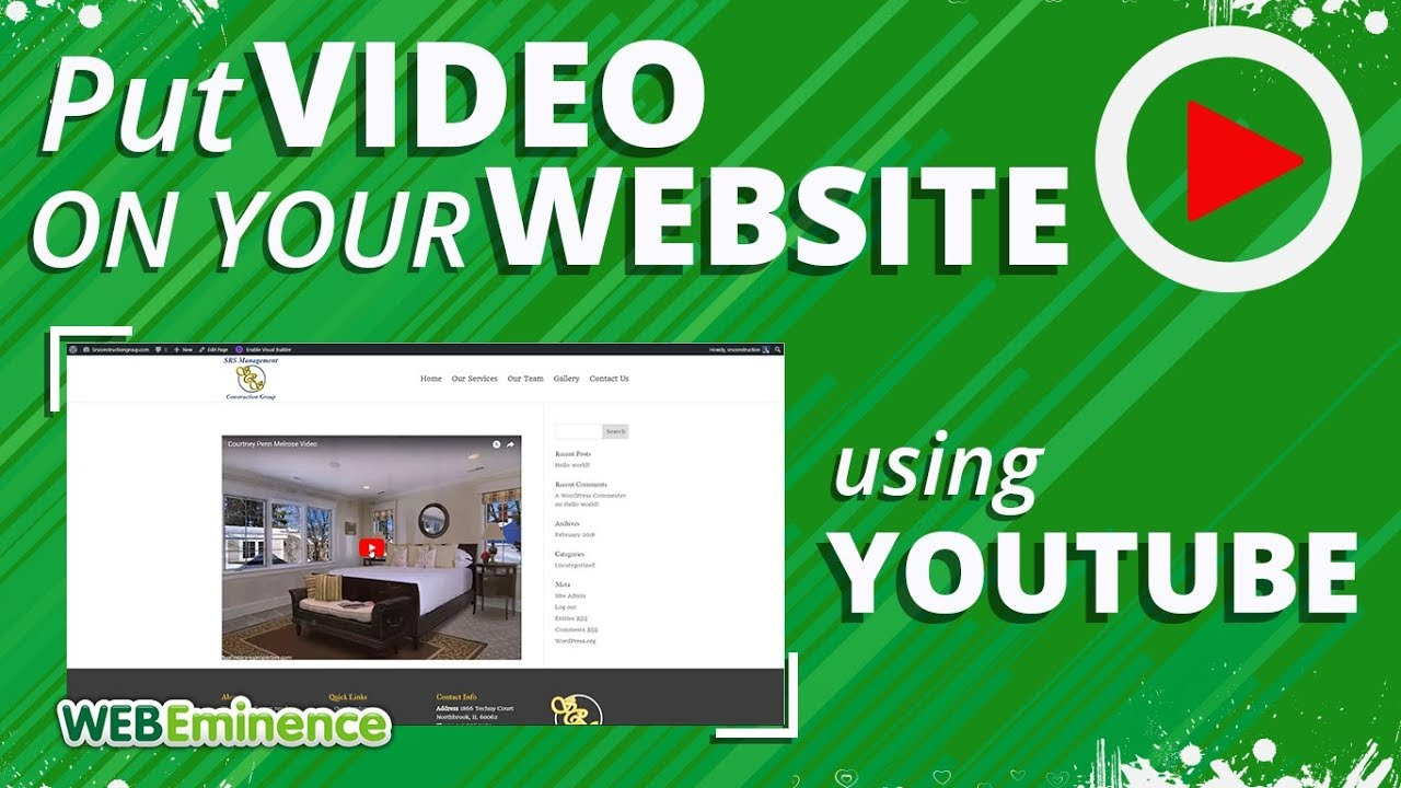 How to add video to your site 17
