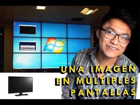 CÓMO HACER UNA IMAGEN CON MUCHAS TVS | VIDEOWALL BARATO