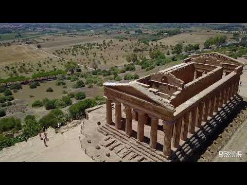 Vallei van de Tempels bij Agrigento - Drone
