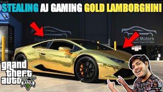 GTA 5 : robbery of a j gaming gold lamborghini  😱