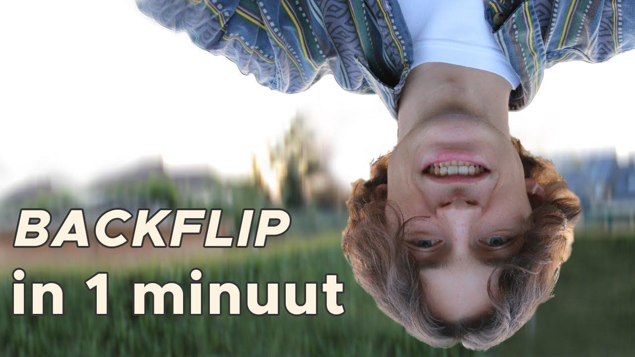 Leer een BACKFLIP in 1 MINUUT