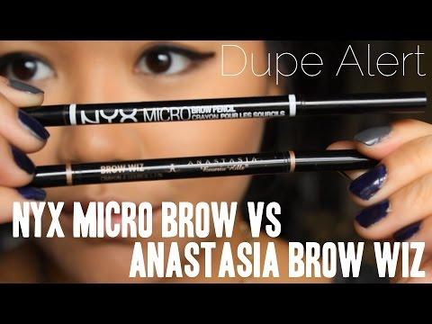 Dupe Alert! Anastasia Beverly Hills Brow Wiz vs NYX Micro Brow ...