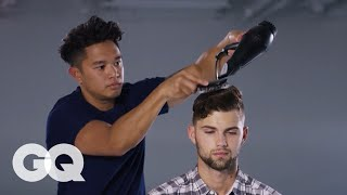 How to Use a Blow-Dryer - Best Hair Tips for Men | GQ