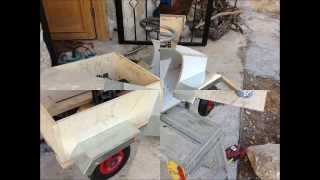 Homemade Wooden Electric Car.