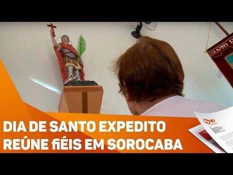 Dia de Santo Expedito reúne fiéis em Sorocaba - TV SOROCABA/SBT