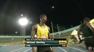 Jamaica U20 2018 boys 200M FINAL