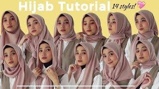 14 Tutorial Hijab Segiempat SIMPLE 2019 HANYA 1 2 jarum buat sehari hari Widy Meisya
