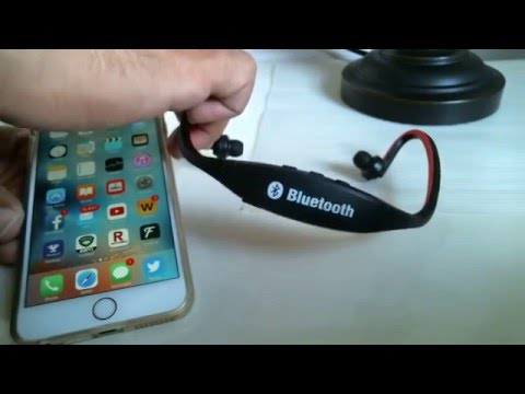 How to Connect Sports bluetooth headset to Iphone 6 Plus