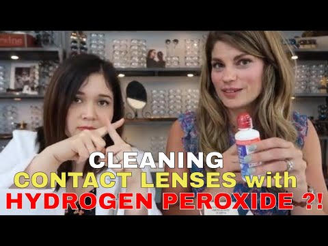 Cleaning Contact Lenses with Hydrogen Peroxide Solution