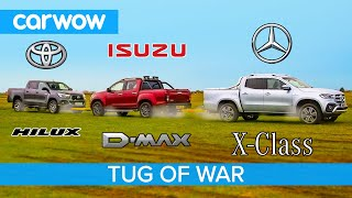 Mercedes X-Class vs Toyota Hilux vs Isuzu D-Max: Pickup TUG OF WAR!