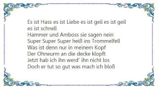 We Butter the Bread with Butter - Super Heiss ins Trommelfell S.H.I.T Lyrics