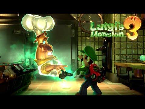Luigi's Mansion 3 Walkthrough Gameplay Part 5 - Ghost Chef Soulffle Boss Fight