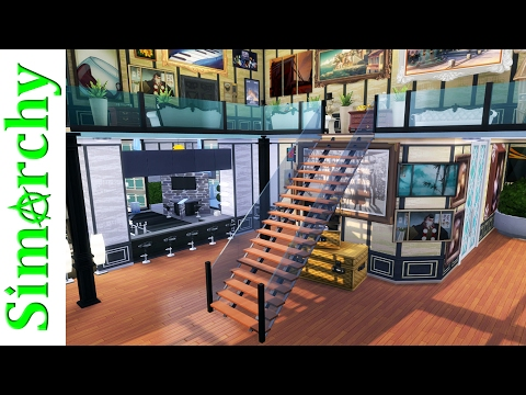 The Sims 4 House Tour - The Most Artist Mansion - Luxurious Loft Penthouse with Pool