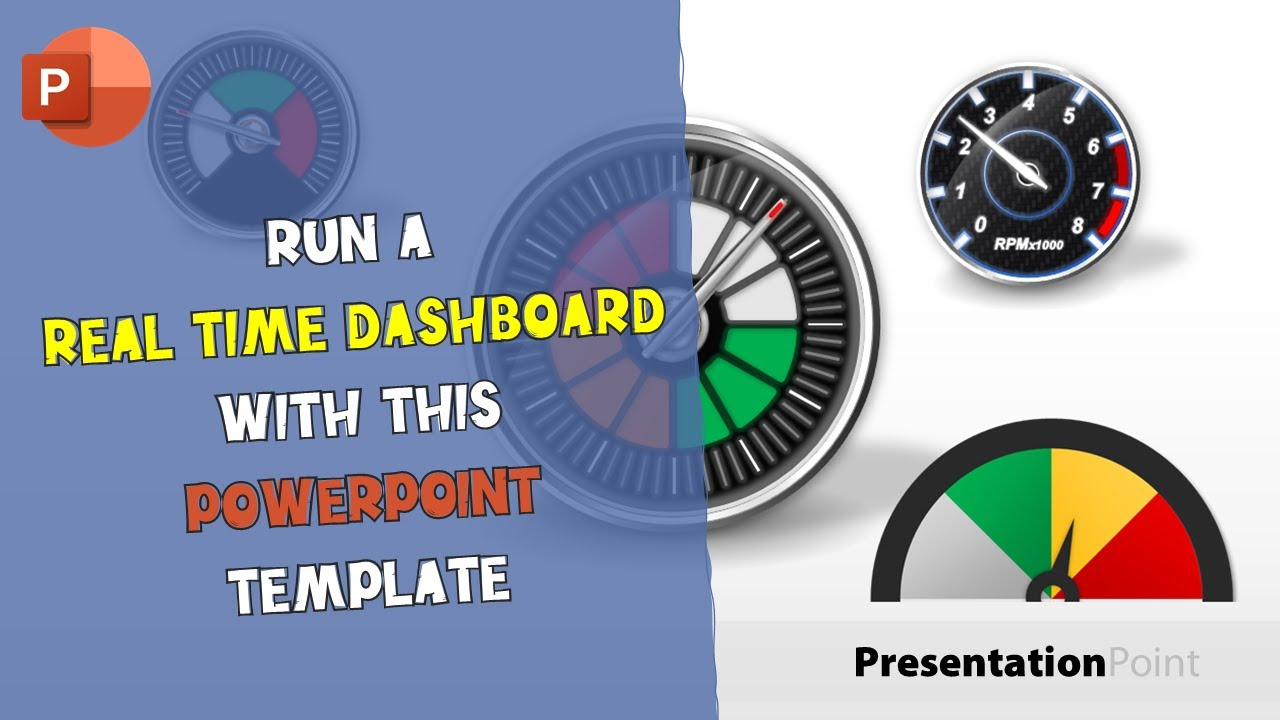 run a real-time dashboard with this microsoft powerpoint template, Powerpoint templates