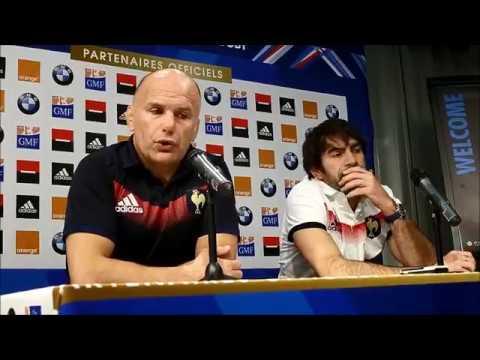 Rugby : conférence de presse après France-Japon