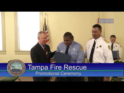 Tampa Fire Rescue Promotional Ceremony - December, 2013
