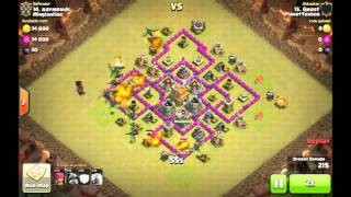 3 Sterne Attacke: RH 7 Ghost vs RH 7 [CLASH OF CLANS]