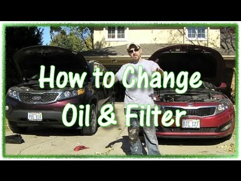 How To Change Oil On Kia Optima And Sorento Youtube