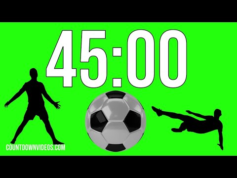 45 Minute Football - Soccer ⚽ Countdown Timer