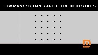 How Many Squares Are In This Dots Picture? #8