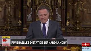 François Legault rend hommage à Bernard Landry