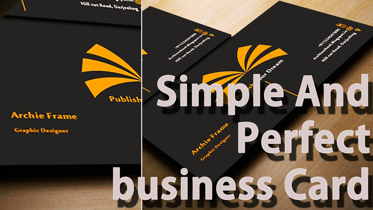 Business card templates   Create Your Own   Photoshop   YouTube Business card templates   Create Your Own   Photoshop