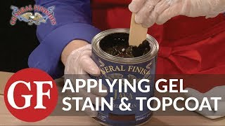 How to Apply Gel Stain and Gel Topcoat to Raw Wood